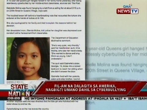 12 Year old New York Filipina Cites Cyberbulling in her Suicide Note
