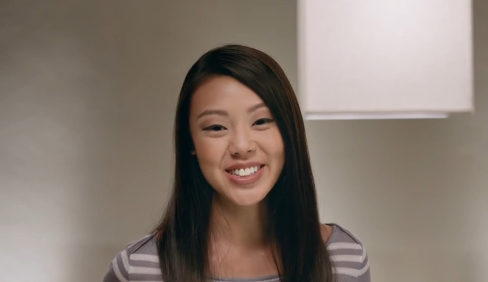 Bang the asian model verizon wireless her