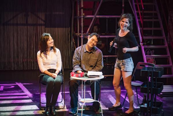 Julia Lim (Cathy), Garett Taketa (Han), and Daniela Benitez (Mia) in Cathy's Deli